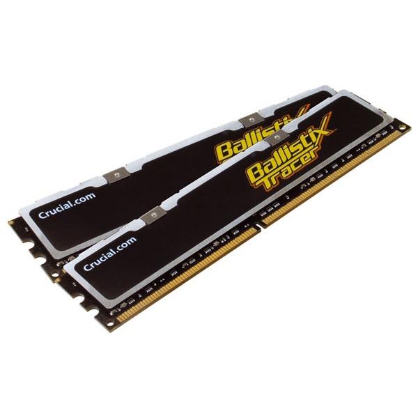 Mémoire PC Ballistix 4 Go (kit 2x 2 Go) DDR2-SDRAM PC6400 CL4 - BL2KIT25664AL80A (garantie 10 ans par Crucial) Crucial Ballistix Tracer avec LEDs 4 Go (kit 2x 2 Go) DDR2-SDRAM PC6400 CL4 - BL2KIT25664AL80A (garantie 10 ans par Crucial)