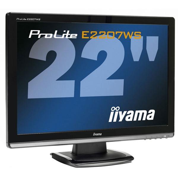 "Ecran PC iiyama E2207WS-B1 iiyama 22"" LCD - ProLite E2207WS-B1 - 2 ms - Format large 16/10"