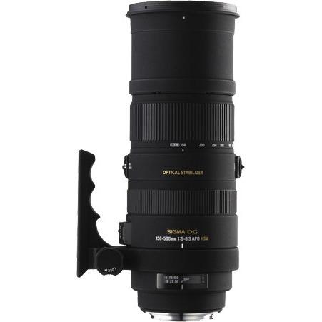Objectif appareil photo SIGMA 150-500mm F5-6.3 APO DG OS HSM monture Nikon Télézoom stabilisé