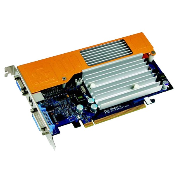 Carte graphique Gigabyte GV-NX84S512HP Gigabyte GV-NX84S512HP - 512 Mo TV-Out/DVI - PCI Express (NVIDIA GeForce 8400 GS)