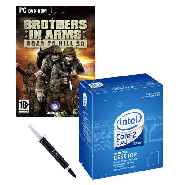Processeur Intel Core 2 Quad Q6600 - Quad Core ! (version boîte - garantie Intel 3 ans) + Pâte thermique Tuniq TX-2 + Jeu Brothers in Arms - OEM (PC) Intel Core 2 Quad Q6600 - Quad Core ! (version boîte) + Pâte thermique Tuniq TX-2 + Jeu Brothers in Arms - OEM (PC)