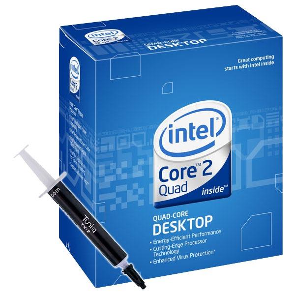 Processeur Intel Core 2 Quad Q9400 - Quad Core ! (version boîte - garantie Intel 3 ans) + Pâte thermique Tuniq TX-2 Intel Core 2 Quad Q9400 - Quad Core ! (version boîte) + Pâte thermique Tuniq TX-2