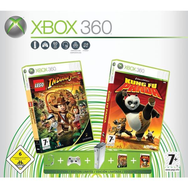 microsoft xbox 360 premium 60 go jeux lego indiana. Black Bedroom Furniture Sets. Home Design Ideas