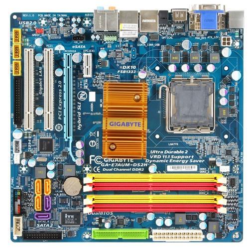 Carte mère Gigabyte GA-E7AUM-DS2H Gigabyte GA-E7AUM-DS2H (NVIDIA GeForce 9400) - Micro ATX