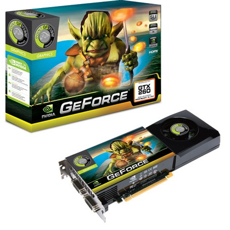 Carte graphique Point of View GeForce GTX260 EXO (216 shaders) - 896 Mo Point of View GeForce GTX260 EXO (216 shaders) - 896 Mo TV-Out/Dual DVI - PCI Express (NVIDIA GeForce avec CUDA GTX 260) + Far cry 2 complet inclus