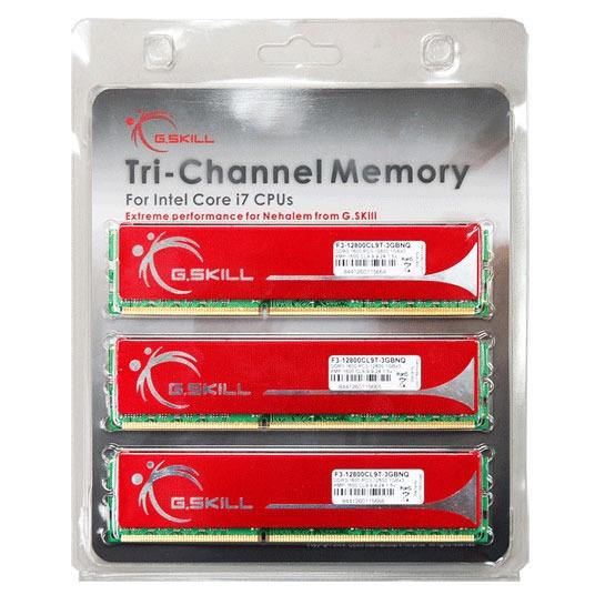 Mémoire PC G.Skill NQ Series 6 Go (3x 2Go) DDR3 1333 MHz G.Skill NQ Series 6 Go (kit 3x 2 Go) DDR3-SDRAM PC3-10666 - F3-10666CL9T-6GBNQ (garantie 10 ans par G.Skill)