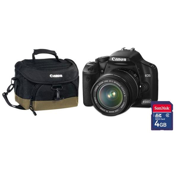 Canon eos 450d objectif ef s 18 55mm is housse de for Housse appareil photo canon