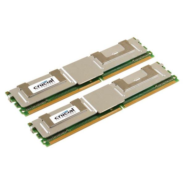 Mémoire PC Crucial DDR2 16 Go (2x 8 Go) 667 MHz CL5 ECC Fully Buffered Kit Dual Channel RAM DDR2 PC5300 - CT2KIT102472AF667 (garantie 10 ans par Crucial)