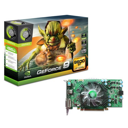 Carte graphique Point of View GeForce 9600 GT 512 Mo Point of View GeForce 9600 GT - 512 Mo - TV-Out/DVI/HDMI - PCI Express (NVIDIA GeForce 9600 GT)