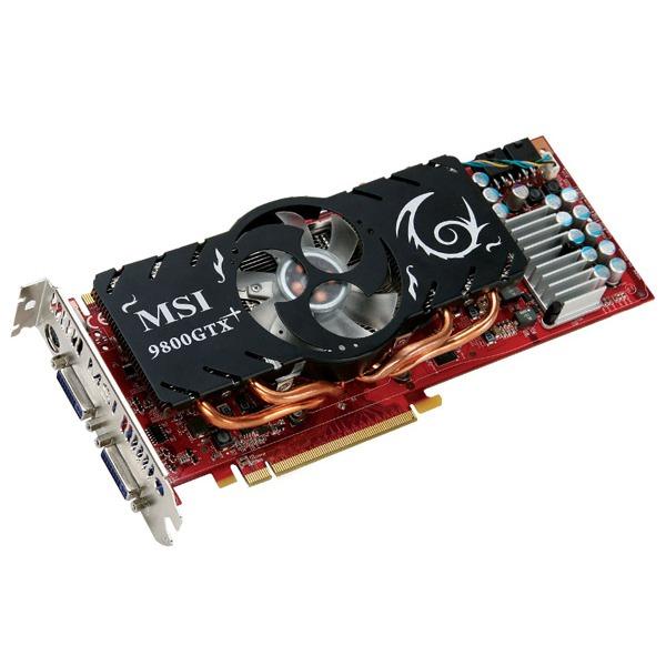 Carte graphique MSI NX9800GTX PLUS-T2D512-OC MSI NX9800GTX PLUS-T2D512-OC - 512 Mo TV-Out/Dual DVI - PCI Express (NVIDIA GeForce avec CUDA 9800 GTX+)