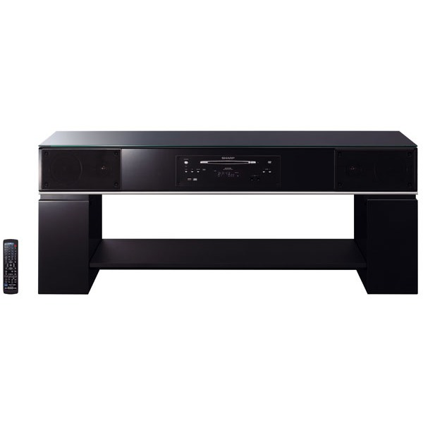 meuble tv home cinema int gr leclerc table de lit a. Black Bedroom Furniture Sets. Home Design Ideas