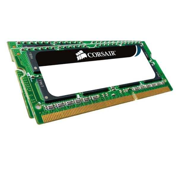 Mémoire PC portable Corsair Value Select SO-DIMM 8 Go (2x 4 Go) DDR3 1066 MHz Kit Dual Channel RAM SO-DIMM DDR3 PC8500 - CM3X8GSDKIT1066 (garantie 10 ans par Corsair)