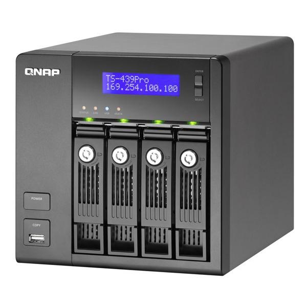 Serveur NAS QNAP TS-439 Pro QNAP TS-439 Pro - Serveur de stockage réseau 4 baies (sans disque dur)