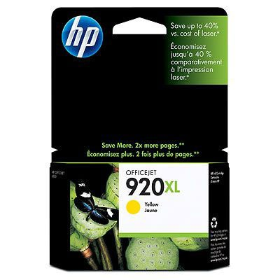 Cartouche imprimante HP 920 XL - CD974AE Cartouche d'encre jaune