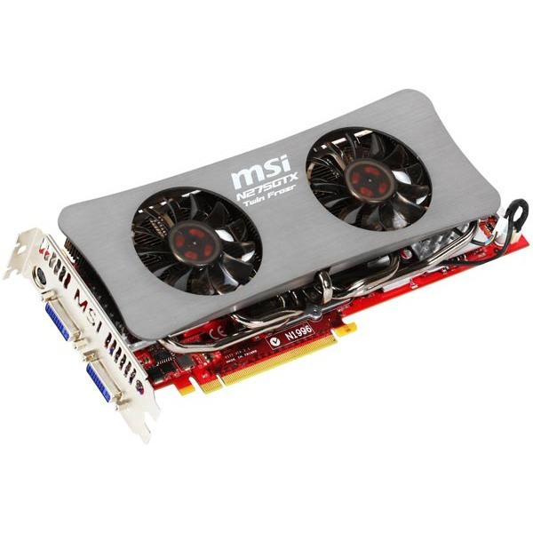 Carte graphique MSI N275GTX Twin Frozr OC - 896 Mo MSI N275GTX Twin Frozr OC - 896 Mo TV-Out/Dual DVI - PCI Express (NVIDIA GeForce GTX 275)