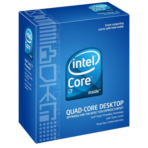 Processeur Intel Core i7 920 Intel Core i7 920 - Quad Core Socket 1366 QPI 4.8 GT/s Cache L3 8 Mo 0.045 m (version boîte - garantie Intel 3 ans) - Rév. SLBEJ