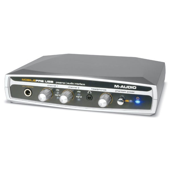 Interface Audio M-Audio MobilePre USB M-Audio MobilePre USB - Interface audio / préamplificateur alimenté via bus USB