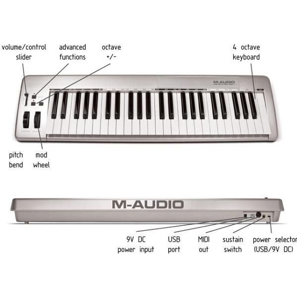 m audio keystation 49e clavier home studio m audio sur ldlc. Black Bedroom Furniture Sets. Home Design Ideas