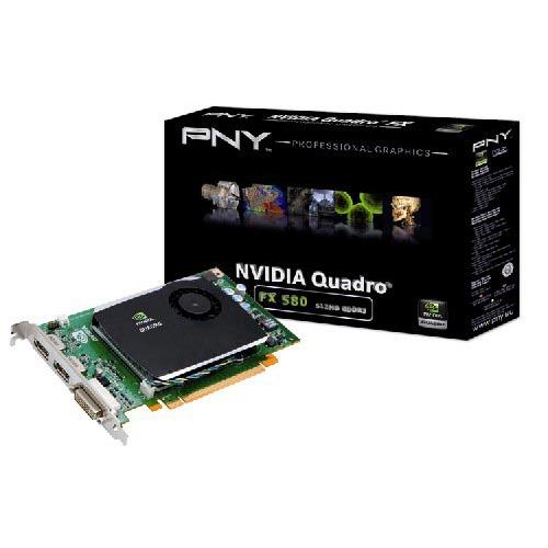 Carte graphique pro PNY Quadro FX 580 PCIE PNY Quadro FX 580 PCIE - 512 Mo Dual DisplayPort/DVI - PCI Express (NVIDIA Quadro FX 580)