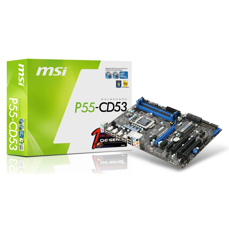 Carte mère MSI P55-CD53 MSI P55-CD53 (Intel P55 Express) - ATX