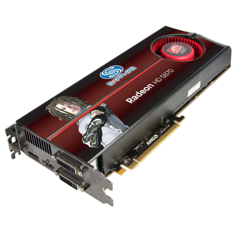 Carte graphique Sapphire Radeon HD 5870 Full Edition - 1 Go Sapphire Radeon HD 5870 Full Edition - 1 Go HDMI/Dual DVI/DisplayPort - PCI Express (ATI Radeon HD 5870)
