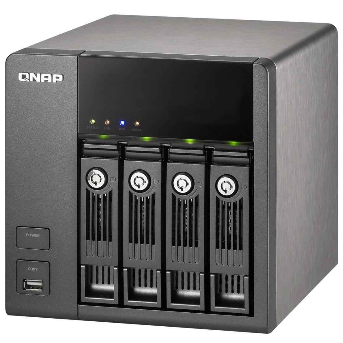 Serveur NAS QNAP TS-410 QNAP TS-410 - Serveur de stockage réseau 4 baies (sans disque dur)