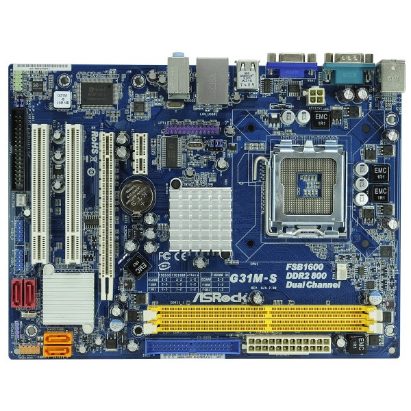 Carte mère ASRock G31M-S R2.0 Carte mère Micro ATX Socket 775 Intel G31 Express