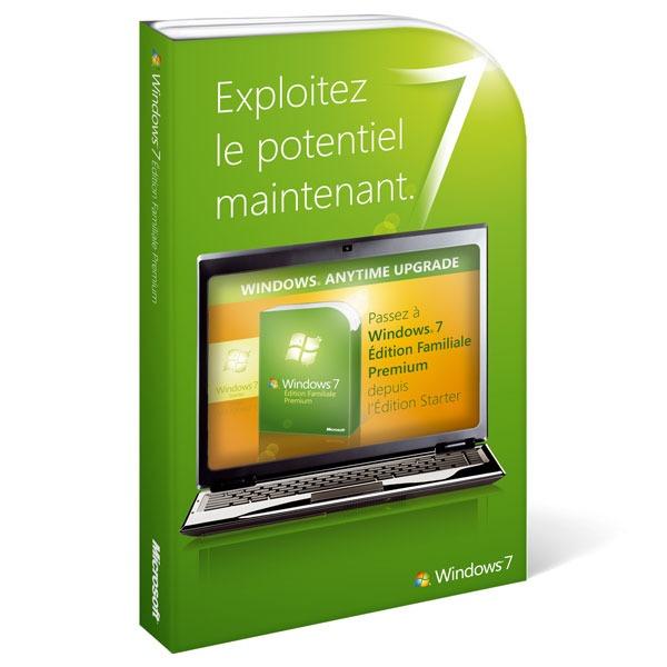 Windows Microsoft Windows 7 Édition Familiale Premium - Mise à jour depuis Windows 7 Starter Microsoft Windows 7 Édition Familiale Premium - Mise à jour depuis Windows 7 Starter (français)