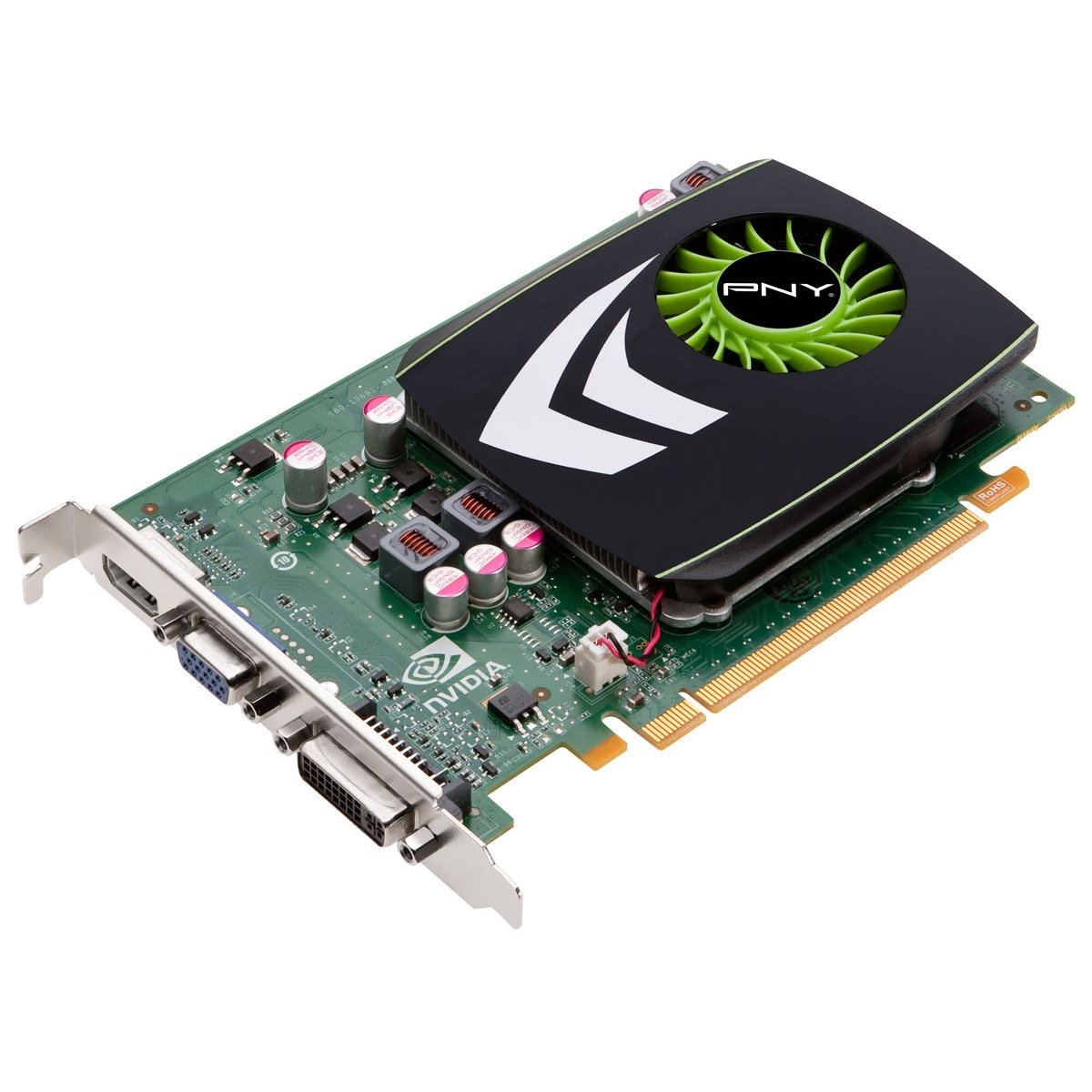 Carte graphique PNY GeForce GT 220 PNY GeForce GT 220 - 1 Go DVI/HDMI - PCI Express (NVIDIA GeForce avec CUDA GT 220)
