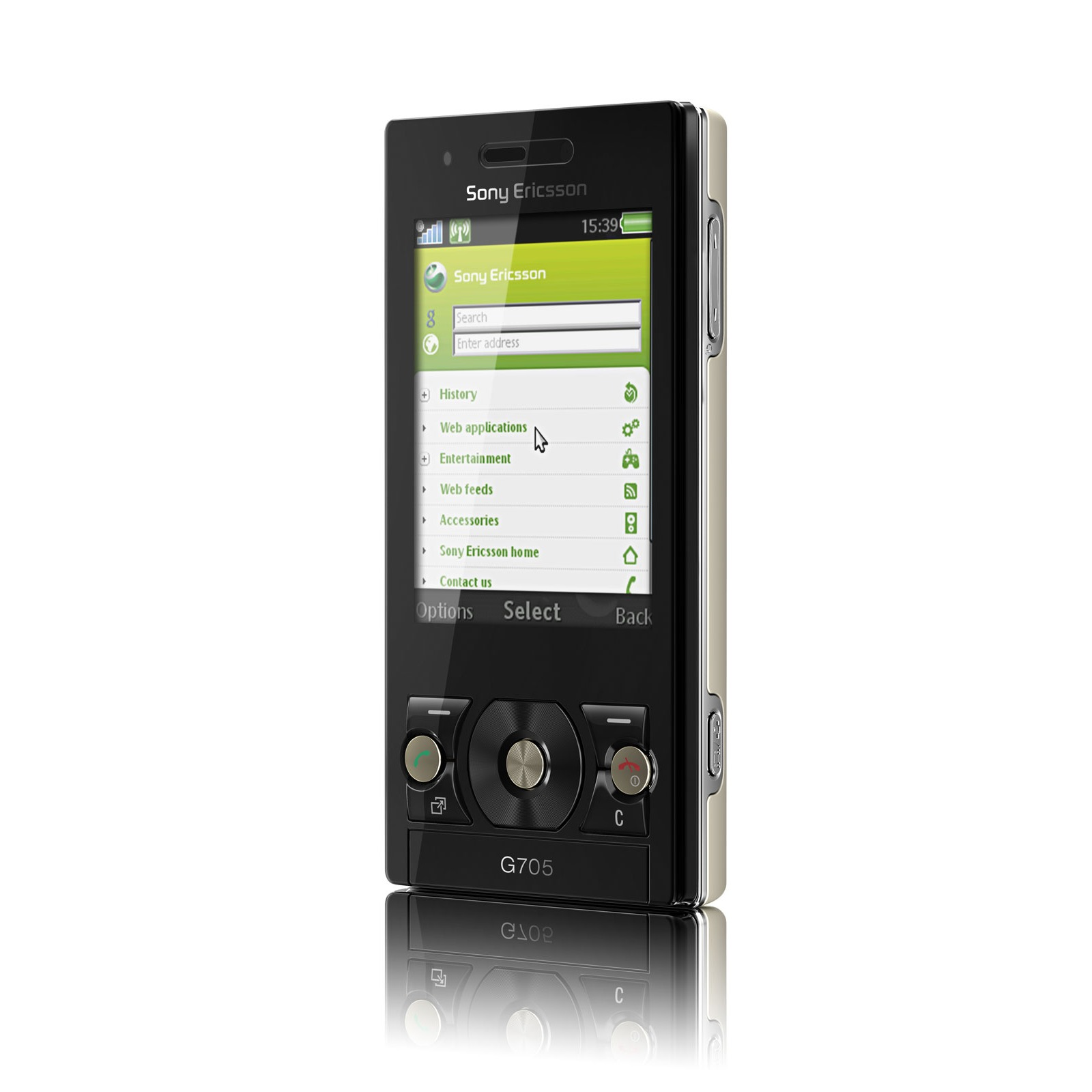 Mobile & smartphone Sony Ericsson G705 Sony Ericsson G705 (coloris noir/or)