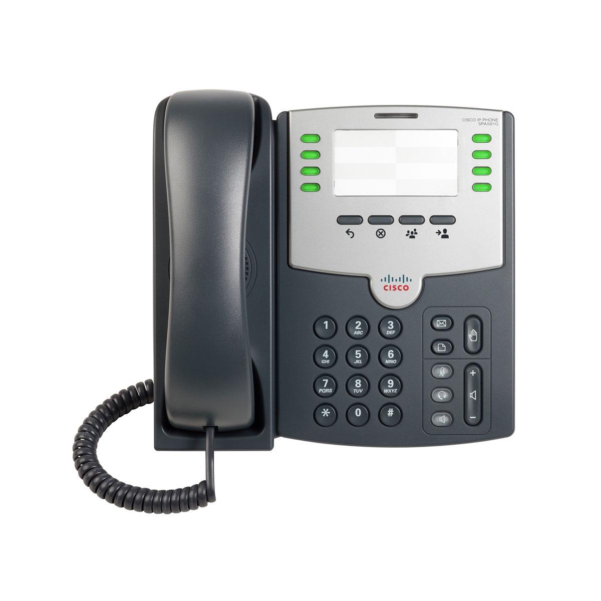 Téléphonie VoIP Cisco Small Business PRO SPA501G Cisco Small Business PRO SPA501G - Téléphone 8 lignes pour VoIP