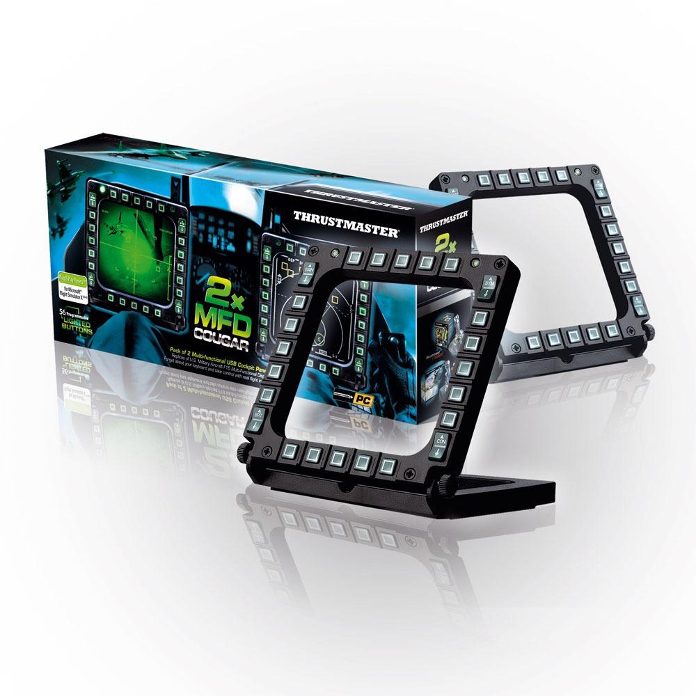 Joystick Thrustmaster MFD Cougar Pack Ensemble de 2 panneaux multifonction USB pour simulation aérienne