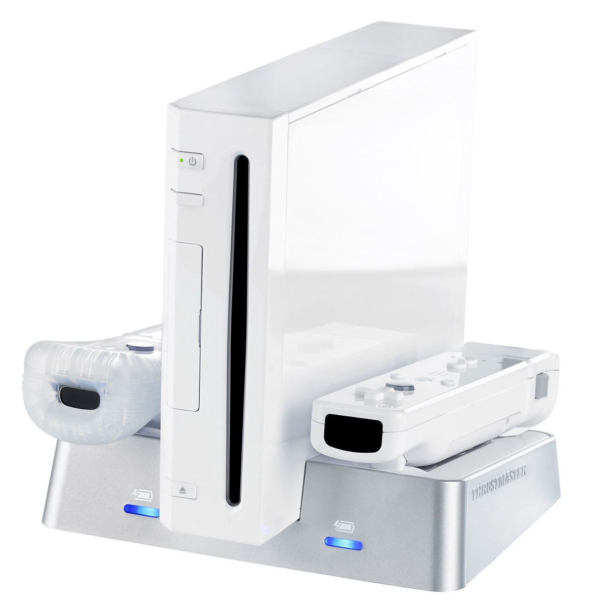 Accessoires Wii Thrustmaster T-Charger Stand Contactless Thrustmaster T-Charger Stand Contactless - Station de recharge à induction pour Wii (coloris blanc)