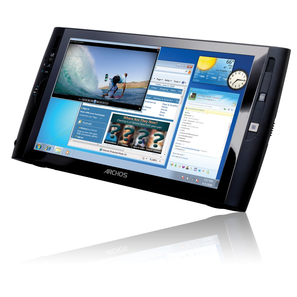 archos 9 pctablet intel atom z510 1 go 8 9 tablette tactile archos sur ldlc. Black Bedroom Furniture Sets. Home Design Ideas