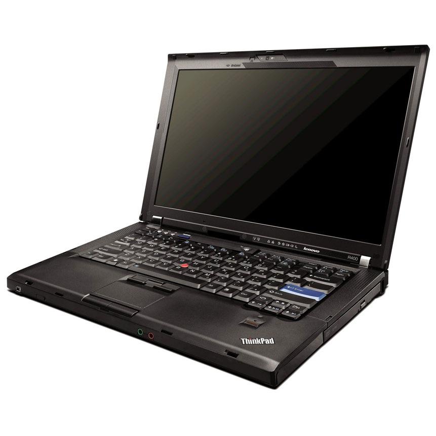 "PC portable Lenovo ThinkPad R400 Lenovo ThinkPad R400 - Intel Core 2 Duo T6670 2 Go 250 Go 14.1"" LCD Graveur DVD Wi-Fi N Webcam Windows 7 Professionnel + XP Pro"