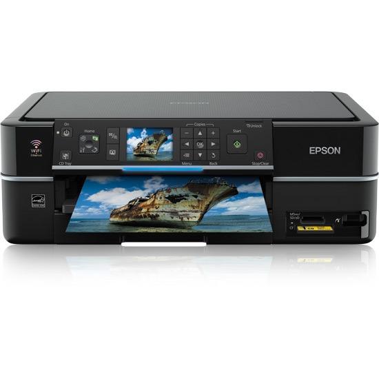 Imprimante multifonction Epson Stylus Photo PX710W Epson Stylus Photo PX710W - Imprimante Multifonction jet d'encre couleur 3-en-1 (USB 2.0 / Ethernet / Wi-Fi b/g)