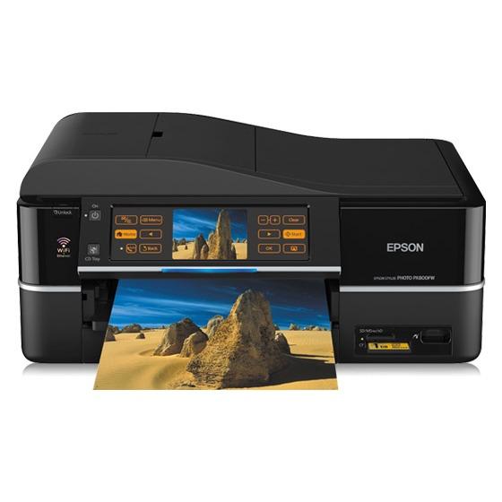 Imprimante multifonction Epson Stylus Photo PX810FW Epson Stylus Photo PX810FW - Imprimante Multifonction jet d'encre couleur 4-en-1 (USB 2.0 / Ethernet / Wi-Fi b/g)