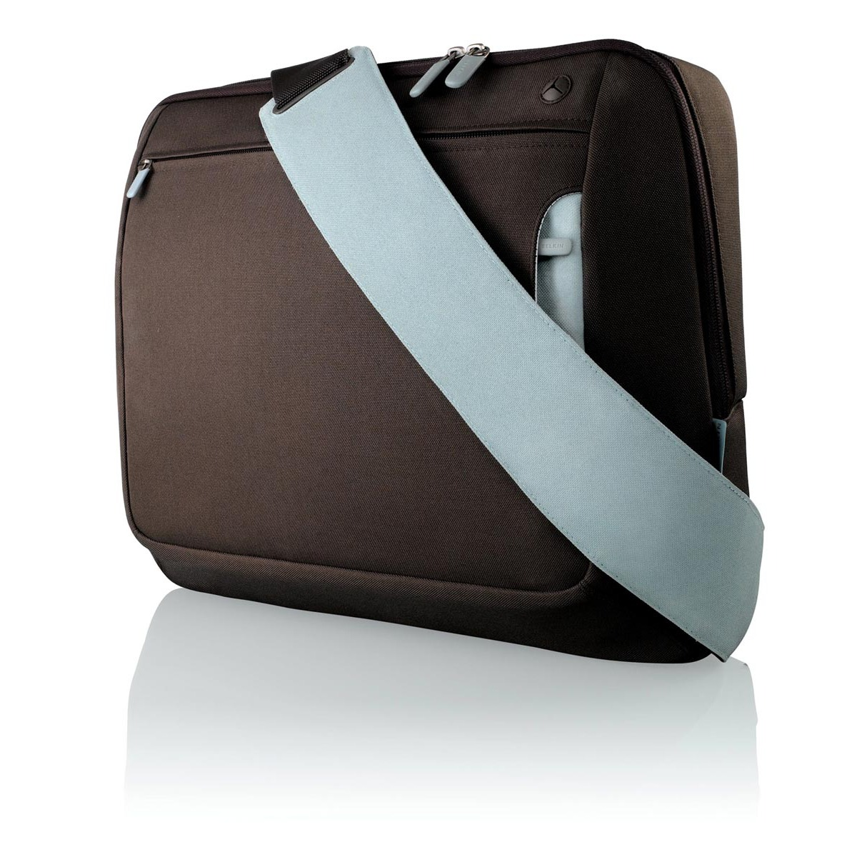 Sac, sacoche, housse Belkin sacoche pour ordinateur portable (jusqu'à 15.6'') (coloris marron/bleu)
