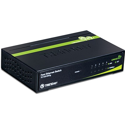 Switch TRENDnet TE100-S50g Mini Switch 5 ports 10/100 Mbps GREENnet (boitier métal)