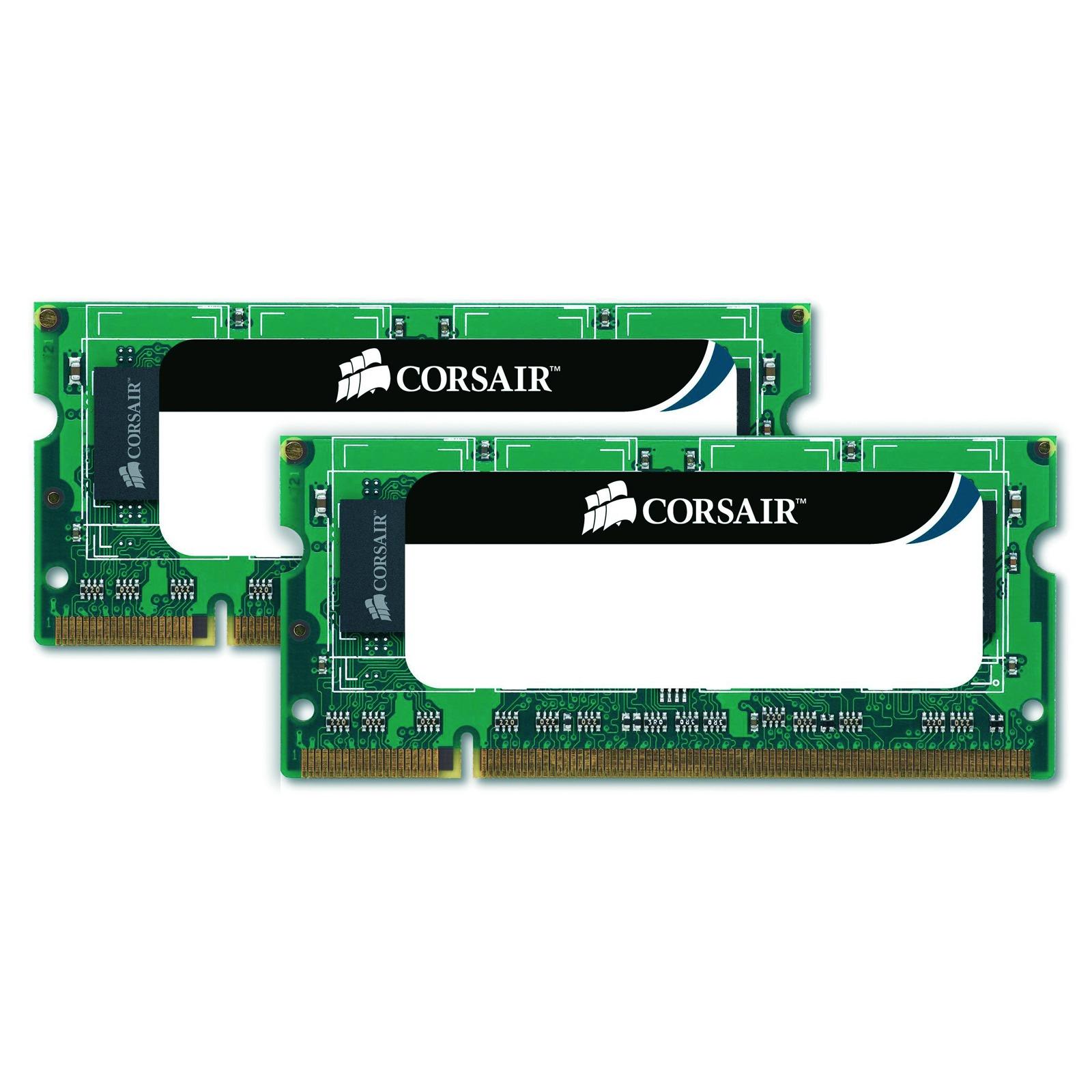 Mémoire PC portable Corsair Value Select SO-DIMM 8 Go (2x 4 Go) DDR3 1333 MHz Kit Dual Channel RAM SO-DIMM DDR3 PC10600 - CMSO8GX3M2A1333C9 (garantie 10 ans par Corsair)