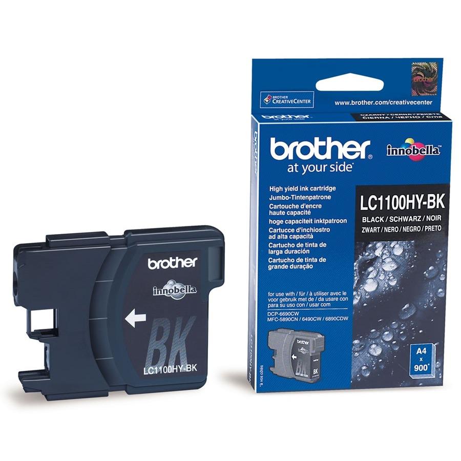 Cartouche imprimante Brother LC1100HYBK Cartouche d'encre noire (900 pages à 5%)
