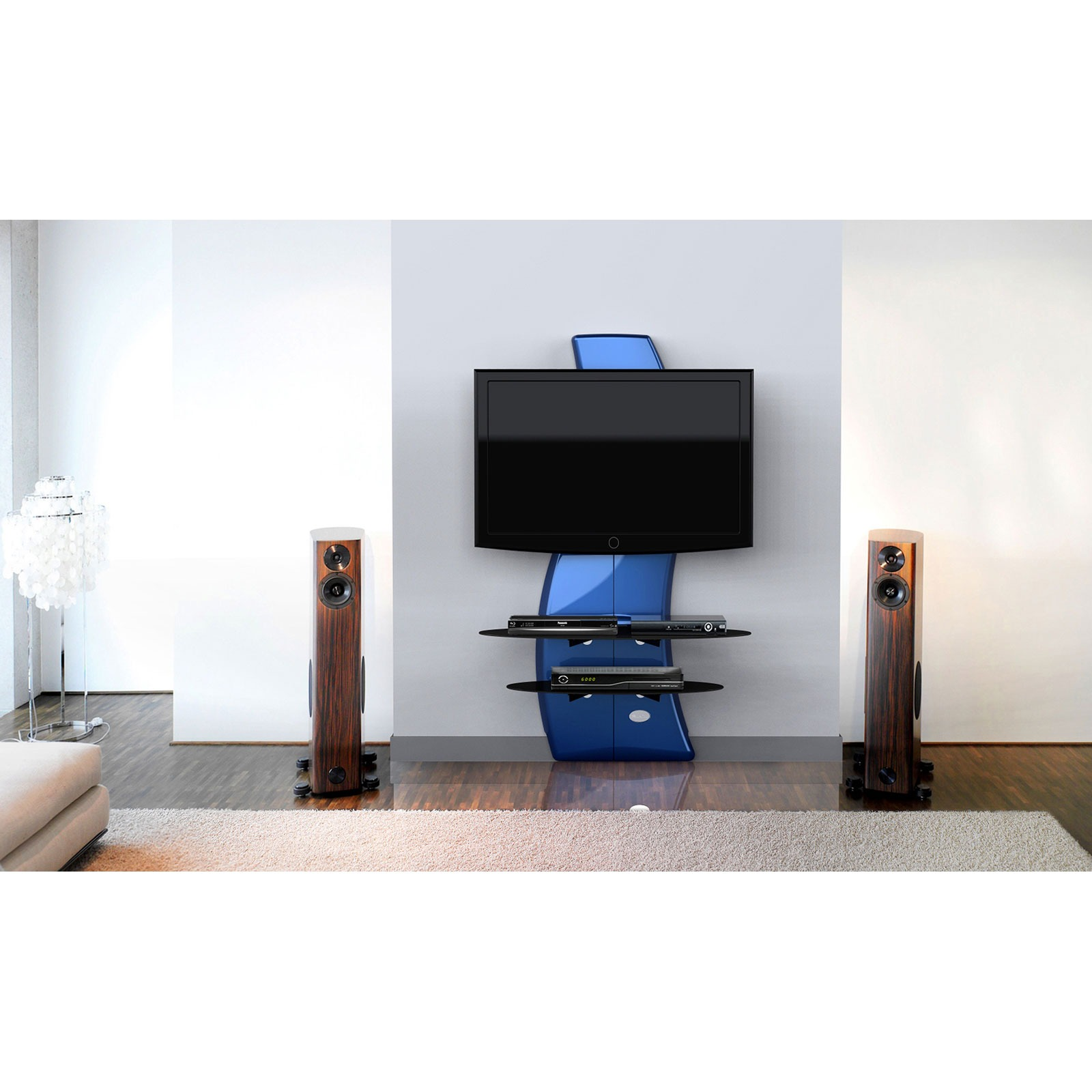 meliconi ghost design 2000 meuble tv meliconi sur ldlc. Black Bedroom Furniture Sets. Home Design Ideas