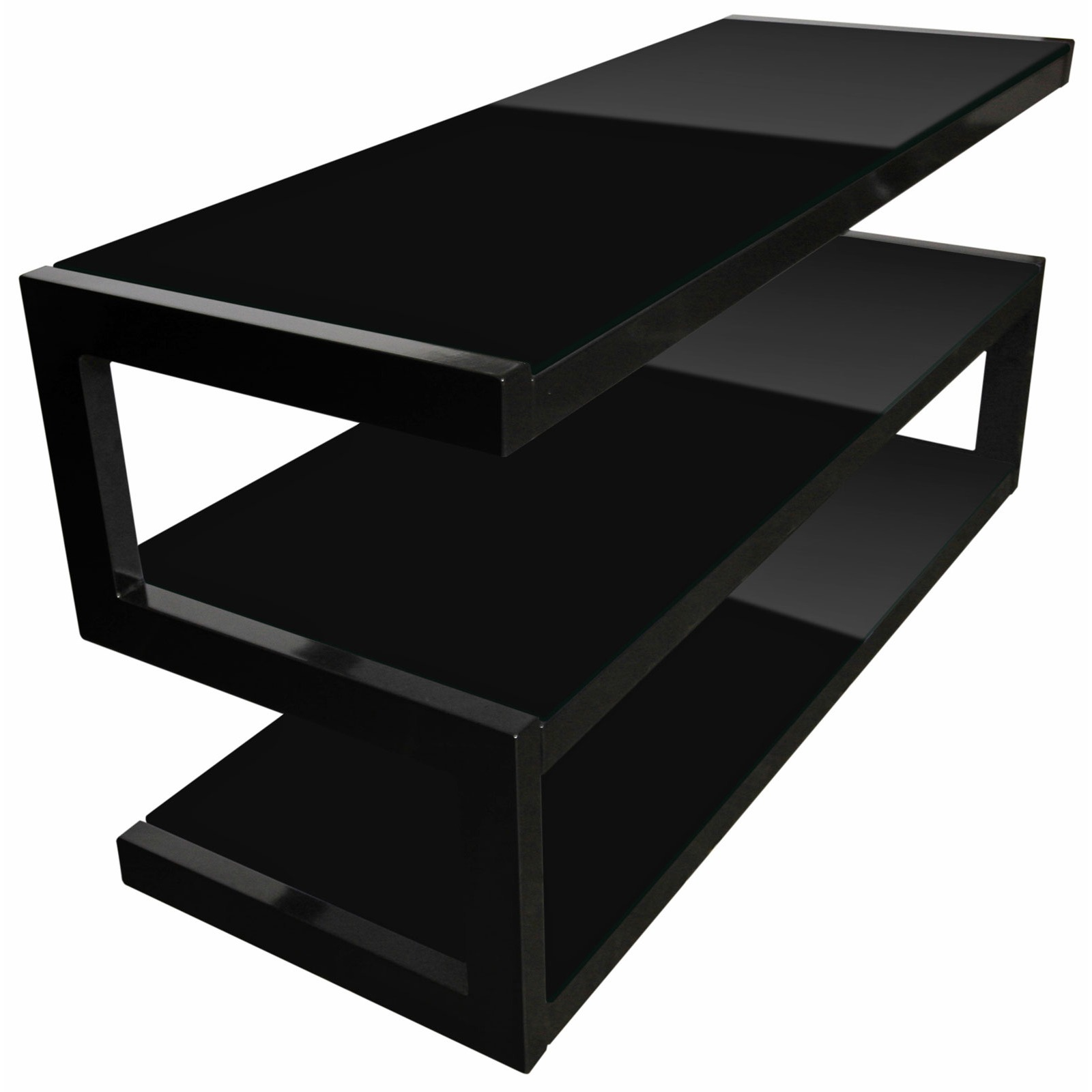 norstone esse noir meuble tv norstone sur ldlc. Black Bedroom Furniture Sets. Home Design Ideas