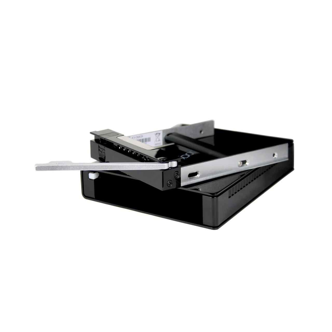 """Boîtier disque dur ICY DOCK MB559UEA-1SMB ICY DOCK MB559UEA-1SMB - Boîtier externe pour disque dur 3""""1/2 Serial ATA sur ports USB 2.0 / FireWire 400 (noir)"""