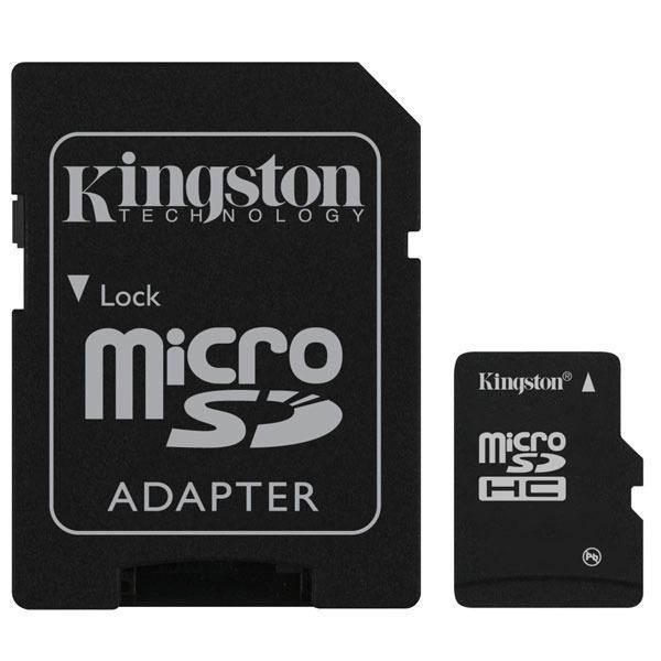 Carte mémoire Kingston microSD 16 Go High Capacity Class 10 + adaptateur SDHC Kingston microSD 16 Go High Capacity Class 10 + adaptateur SDHC (garantie 10 ans par Kingston)