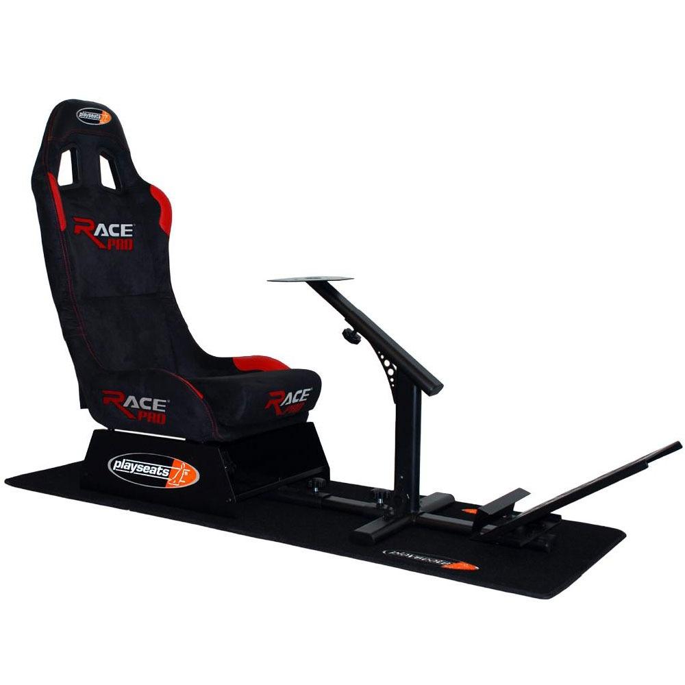 Volant PC Playseats Race Pro Alcantara Playseats Race Pro Alcantara - Siège de simulation de conduite (coloris noir/rouge)