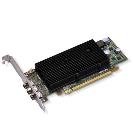 Carte graphique pro Matrox M9138 LP PCIe x16 Carte graphique Triple-Display 1 Go Low Profile sur port PCI Express x16 (3 sorties DisplayPort)