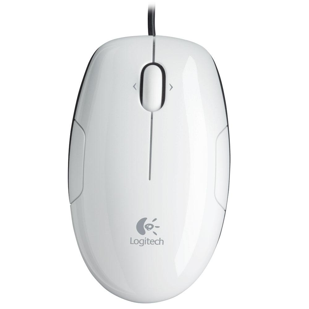 Souris PC Logitech LS1 Laser Mouse (Coconut) Souris laser filaire