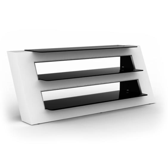 Elmob alexa al 140 03 blanc meuble tv elmob sur ldlc - Meuble pour ecran plat ...
