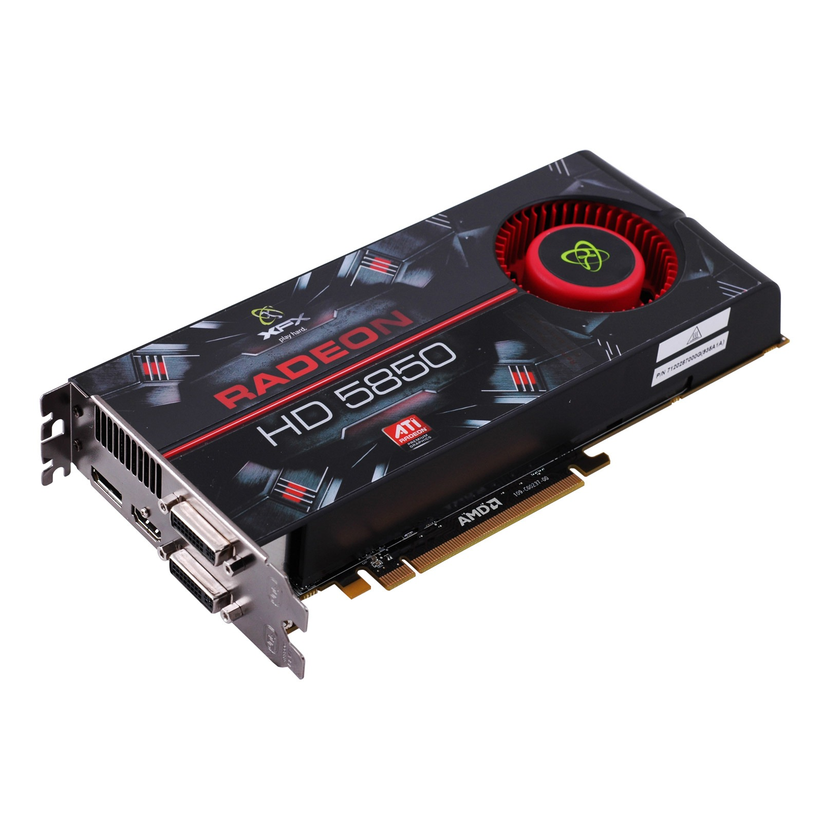 "Carte graphique XFX ATI Radeon HD 5850 1024 MB + Jeu ""Assassin's Creed"" XFX ATI Radeon HD 5850 1024 MB - 1 Go HDMI/Dual DVI/DisplayPort - PCI Express (ATI Radeon HD 5850) + Jeu ""Assassin's Creed"""